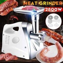 2800W Electric Meat Grinder Sausage Maker Stainless Steel Powerful Food Grinding Cutter Stuffer Meat Mincer Slicer DIY Grinders