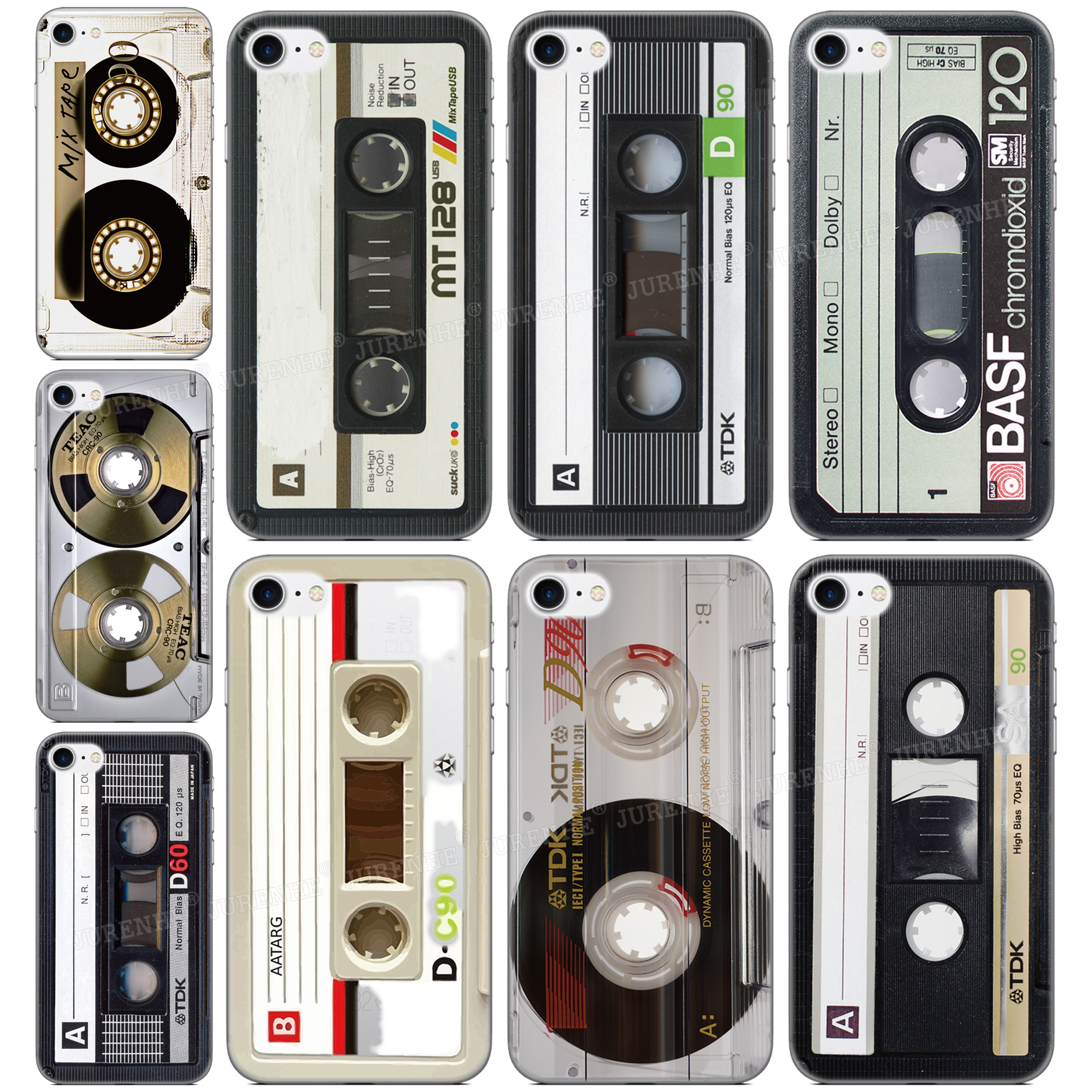 Music Tape Phone <font><b>Case</b></font> For <font><b>OPPO</b></font> Realme X50 5 6 Find X2 Reno A Ace 3 Pro K1 A92S A91 F15 A52 A72 AX7 A5S A31 A8 <font><b>A9</b></font> <font><b>A5</b></font> <font><b>2020</b></font> Cover image