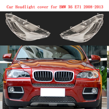 Headlight cover lamp headlamp shell mask Car front lampshade lens glass headlamp cover for BMW X6 E71 2008-2013 for lexus ct200 headlight cover headlamp front lamp headlamp shell ct200 headlamp assembly automobile lampshade