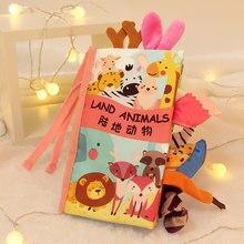 Juguetes Montessori para bebés de 0 a 12 meses, libros de tela suave para niños de 1 año, libro educativo para Aprendizaje de recién nacidos