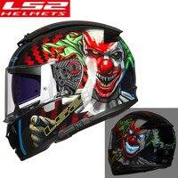 Ls2 ff390 disjuntor rosto cheio moto rcycle capacete de corrida casco moto viseira dupla capa ls2 original kask moto cyklowy casque moto|Capacetes| |  -