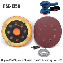 4-Nails Hook Power-Tools-Accessories Sanding-Pad Electric RYOBI RSE-1250 5inch 125mm