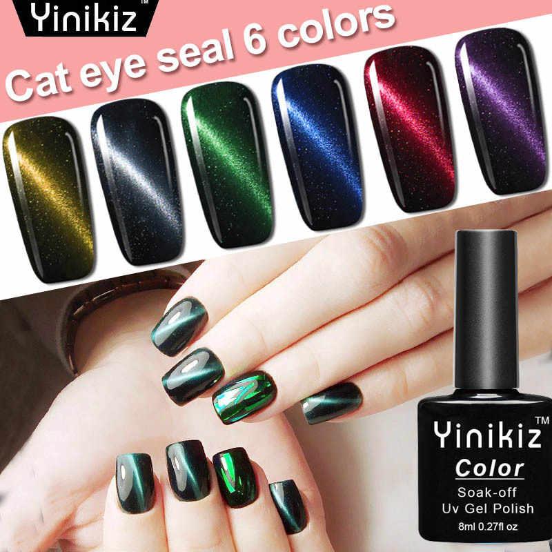 Mode 5D Rode Cat Eye Uv Gel Polish Manicure Semi Permanente Vernis Uv Led Gel Varnish Soak Off Nail Art gel Nagellak 12 Kleur