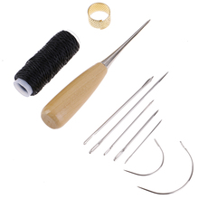 1Set Leather Sewing Needles Kit Stitching Awl Needl