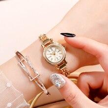 Women's Luxury Crystal Diamond Wrist Watches Women Bracelet Adjusted Band Steel Pearl Amazing Watch Ladies Noble Quartz Fashion noble lady crystal quartz wrist watch white strap