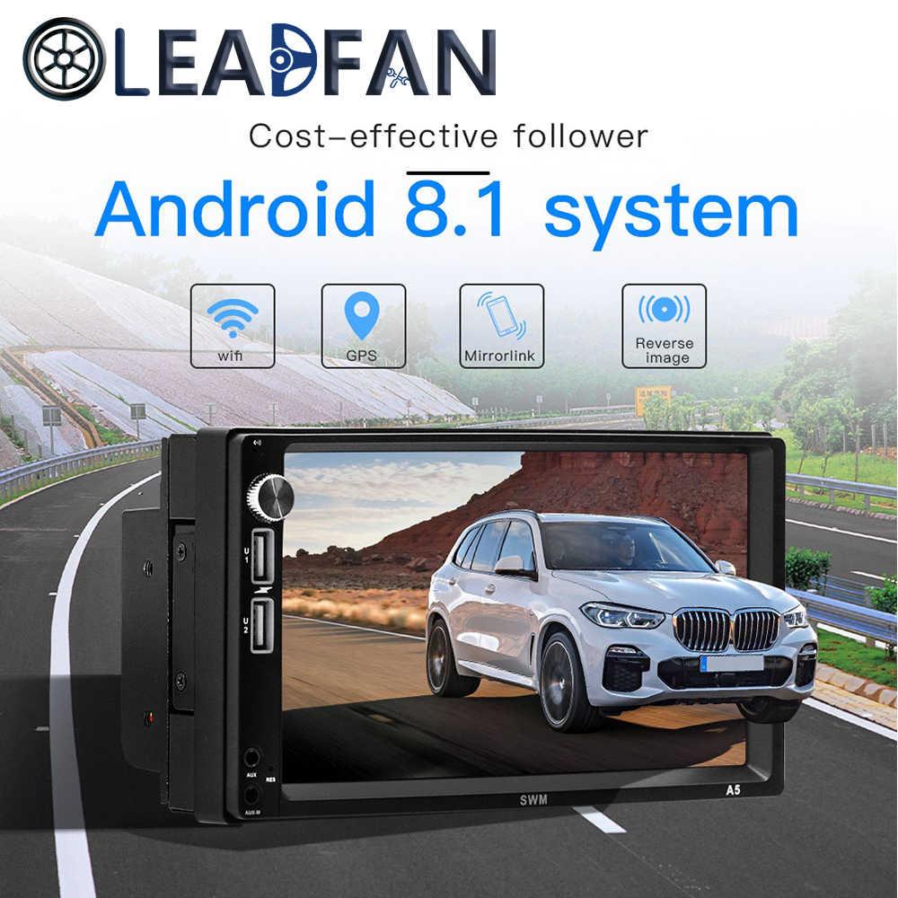 Leadfan Phát Thanh Xe Hơi Android 8.1 Autoradio 2DIN MP5 GPS Stereo Đầu Thu 2 Din Xe Ô Tô Âm Thanh Stereo Radio MirrorLink Wifi Phía Sau camera