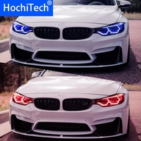 HochiTech WIFI RGB Multi color Concept M4 Iconic Style LED Angel Eye Kit for BMW M3 F80 M4 F82 car styling