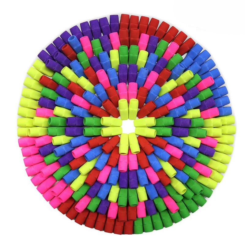 Eraser Caps, Pencil Top Erasers, Pencil Cap Erasers, Eraser Tops, Color Pencil Eraser Toppers, School Erasers For Kids, Use In H