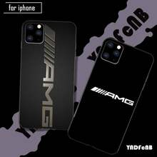 Amg silicone caso capa de telefone para o iphone se 2020 6s 7 8 plus x xs max xr 11 12 pro max funda
