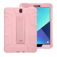 New Silicon Shockproof Armor Case for Samsung Galaxy Tab S3 9.7 inch T820 T825 Stand cover for Samsung Tab S3 9.7 case+Film+Pen Tablets & e-Books Case     -