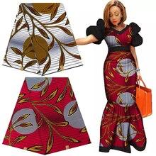 100% bawełna Ankara afryka tkaniny z nadrukiem prawdziwy wosk Pagne Tissu materiał do szycia dla Craft Party Dress DIY wzór w kwiaty