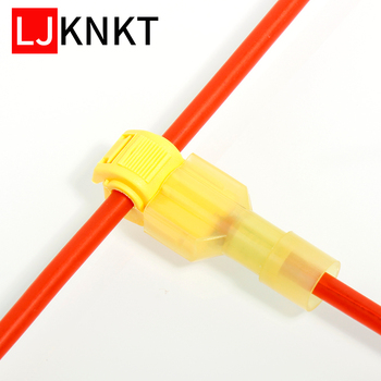 Insulated Waterproof T Tap Electrical Connectors Quick Lock Wire Terminals car Cable Splice Crimp 100PCS Electric Kit Tool Set t shape snap quick splice lock cable wire electrical connector crimp kit scotch waterproof tool 60 100pcs electric set terminals