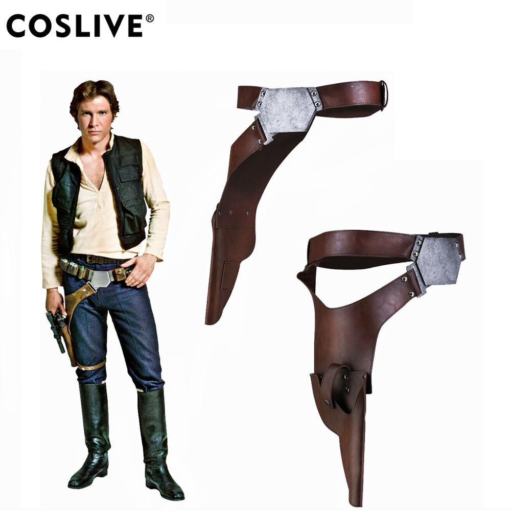 Han Solo Belt Star Wars Cosplay Costume Prop Holster Gun Strap Replica Leather