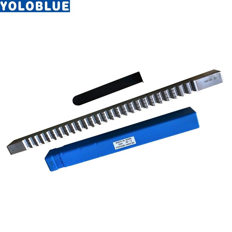 Ferramentas de Corte Feitas sob Medida Métricas da Keyway do Cnc para o Roteador Broach com Calços Push-tipo Keyway Americano Push Faca Cnc 25mm Hss f