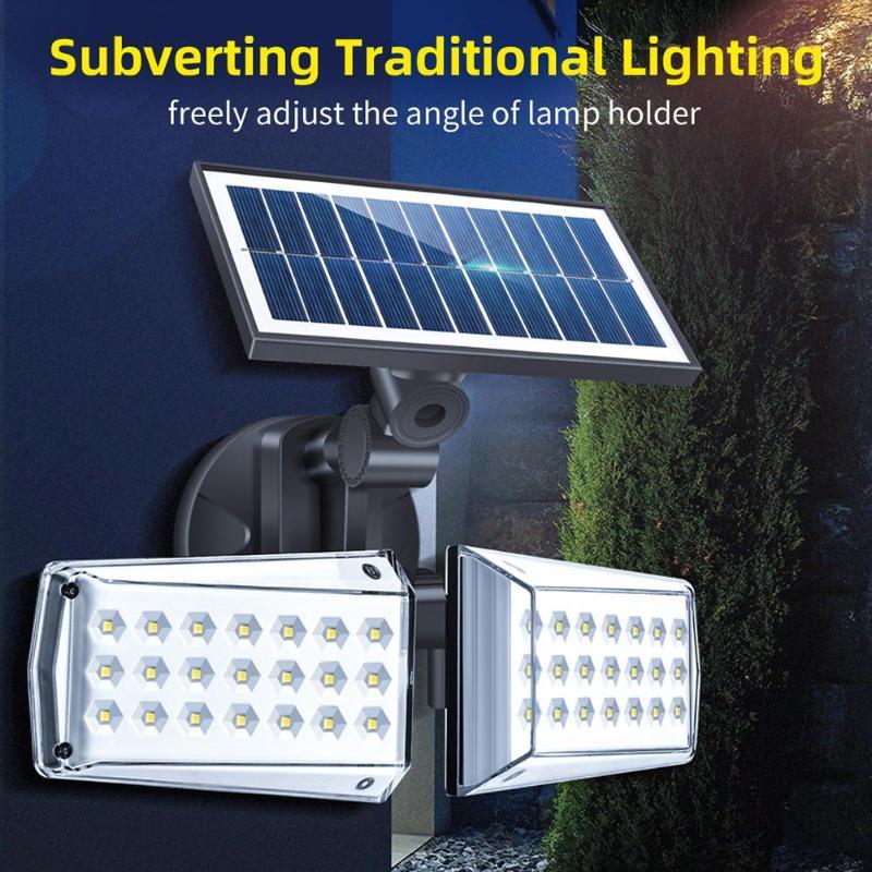 VKTECH 163/80/42/40 LED Solar Light Outdoor Solar Lamp PIR Motion Sensor Wall Light Waterproof Solar Powered Sunlight Garden