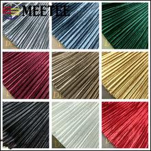 Meetee-tela plisada de Color sólido, 50/100cm X 150cm, tela de terciopelo dorado para invierno, primavera, falda, camiseta, accesorios de ropa, FA225