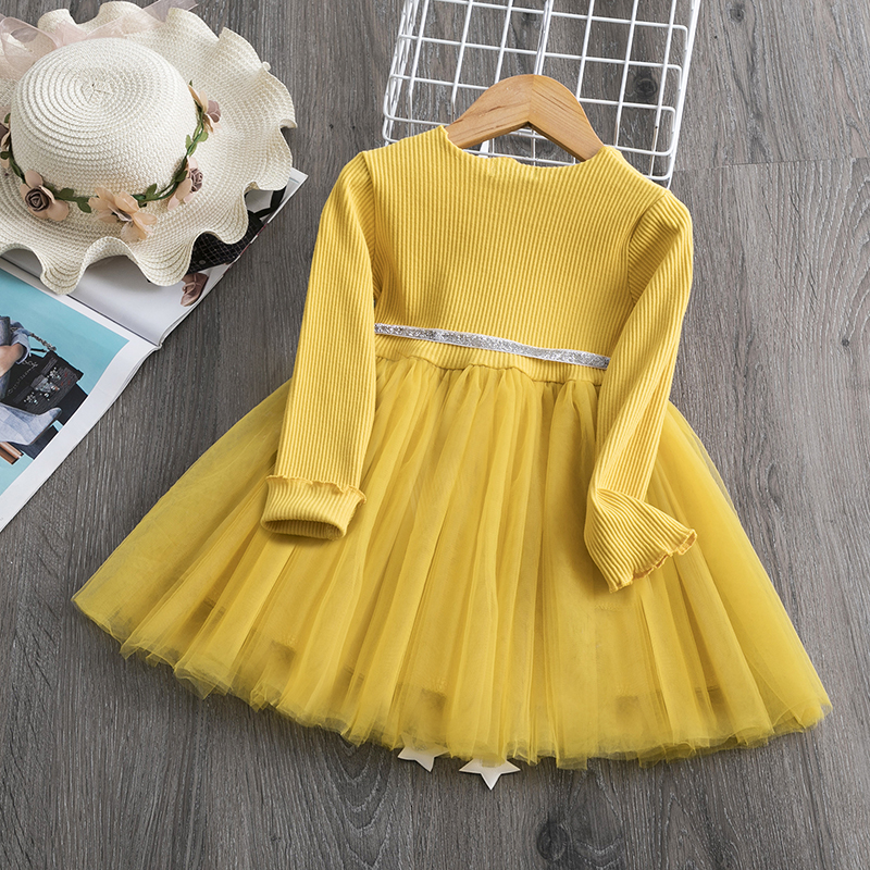 Autumn Winter Long Sleeves Kids Dresses For Girls Casual Wear Daily Clothes Princess Party Dress Children S Clothing For 3 8 Yrs Leather Bag