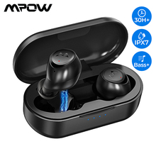 Mpow M7 TWS Bluetooth Earphones HD Stereo Wireless Headphones With Noise Cancelling Mic IPX7 Gaming Headset For iPhone 11 Huawei mpow tws t6 black mpbh333ab