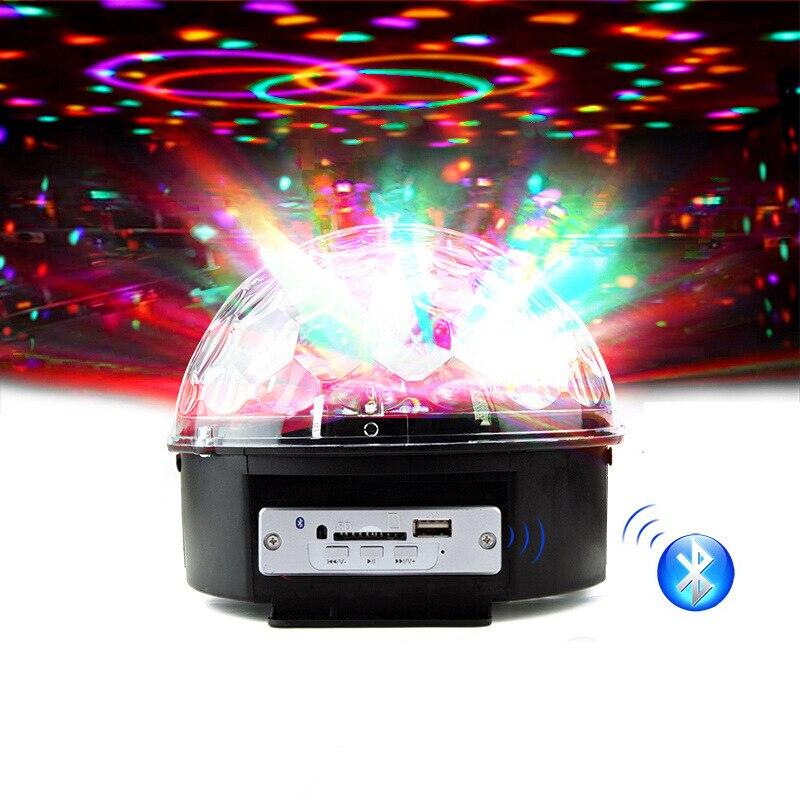 com controle remoto 9 cores rgb digital cristal disco bola mágica