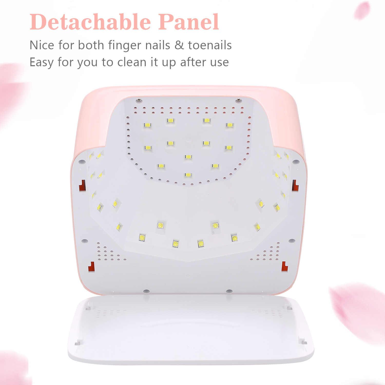 72W חכם עם LCD תצוגת טיימר פונקצית LED UV ג 'ל נייל מייבש אשפרה מנורת LED נייל מנורת עבור ג 'ל לכה