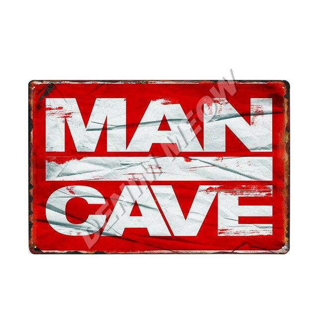 Man Cave Vintage Metal Plates 4