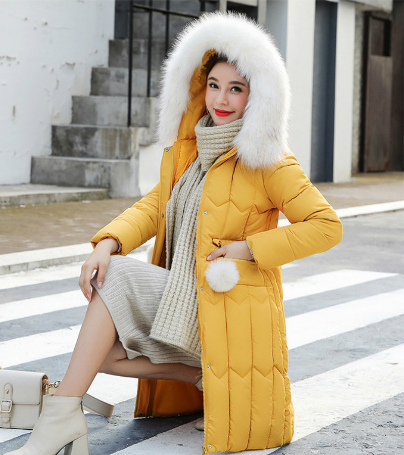 Plus size winter coat women padded cotton hooded women long jacket outwear slim white warm vintage female parka new 2019 DR1195 (9)
