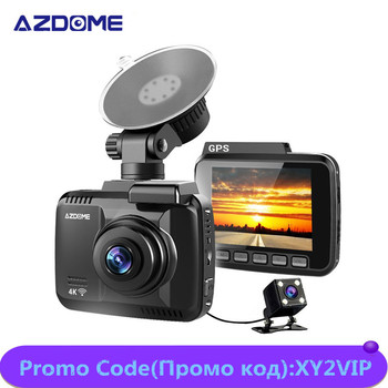 AZDOME GS63H Dash Cam 4K Ultra HD 2160p DashCam Built in Wifi & GPS Dual Lens Car Dvr Super Night Vision 2160P Rearview Recorder mini 2 4k 2160p 1080p fhd car dvr dash cam camera 60fps 170 degree car video recorder wifi gps night vision dashcam w rear cam