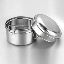Stainless Steel Lunch Box Food Container 2 Tier Indian Tiffin Round Carrier Set(China)