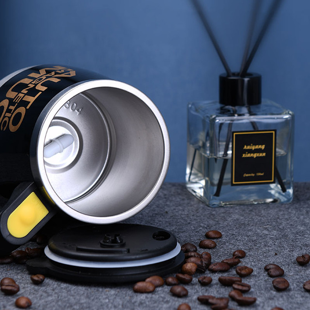 New Automatic Self Stirring Magnetic Mug Creative 304 Stainless Steel Coffee Milk Mixing Cup Blender Smart Mixer Thermal Cup 4