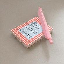 100 arkuszy koreańska Retro świeża chusta karteczki do notowania notatnik zakładka punkt It Marker samoprzylepne karteczki do notowania biuro szkolne notebooki