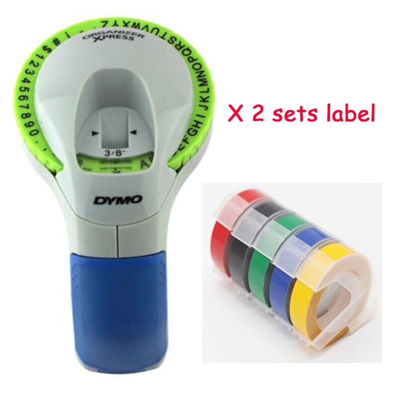 CIDY pour Dymo 12965 avec 10 étiquettes imprimante manuelle 3D gaufrage étiquette ruban Dymo organisateur Xpress bricolage étiquettes