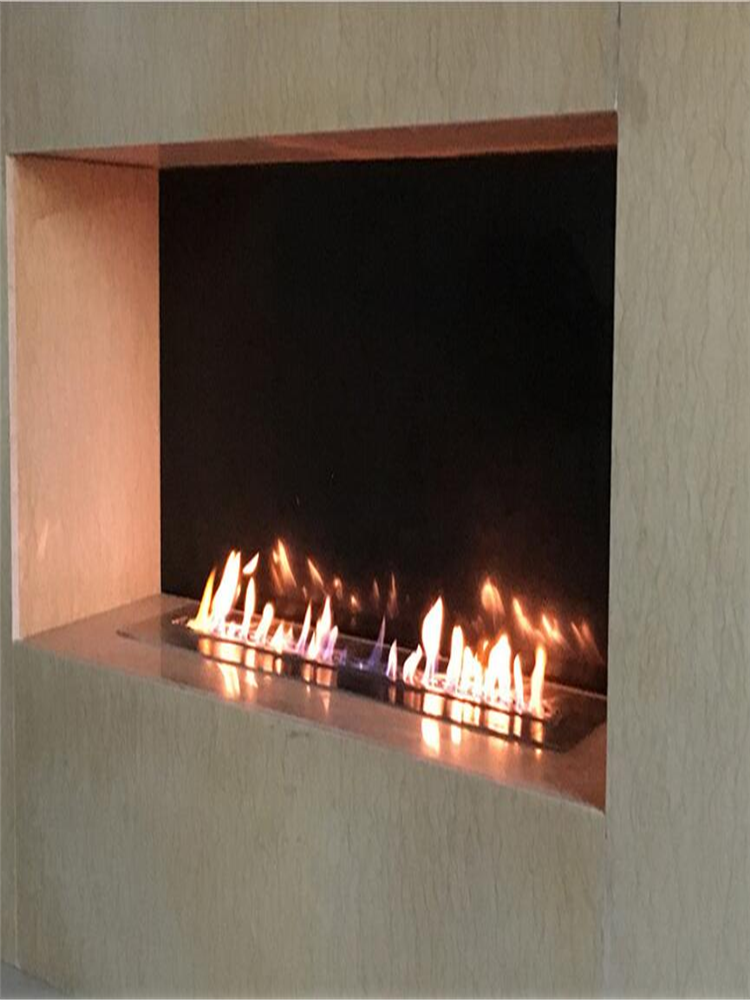 18 Inch  Wifi Real Fire Intelligent Automatic Smart Alexa Wlan Remote Flame Ignition Bio Ethanol Fireplace