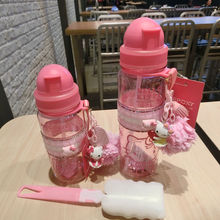 CUTE Girl Water Bottle 500ML 350ML Plastic Drinkware Tour Ou