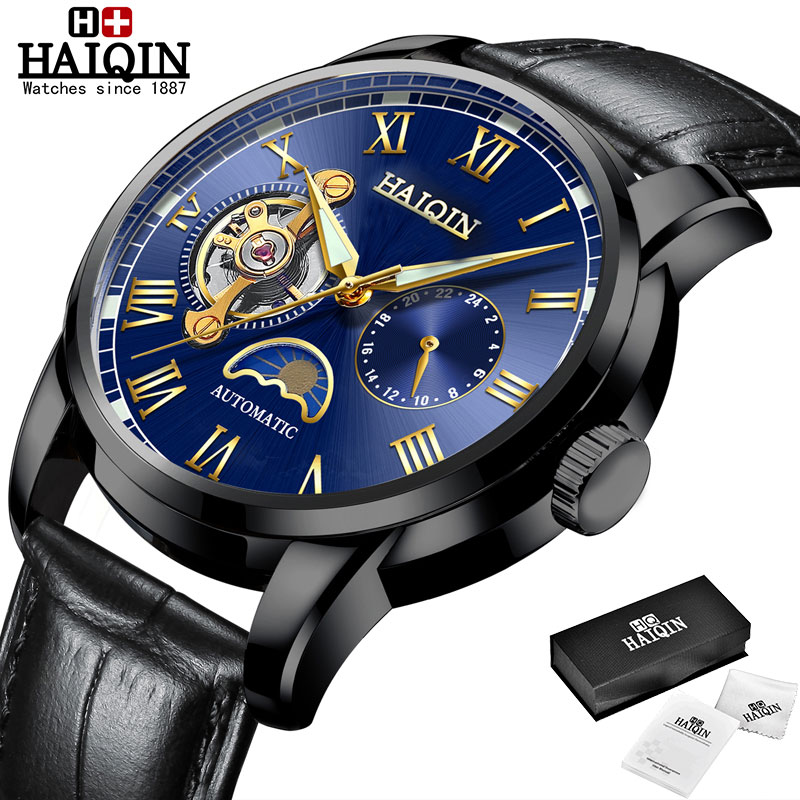 HAIQIN Mechanical watches mens automatic wrist watch for mens watches top brand luxury watch men Tourbillon relojes hombre 2020 13