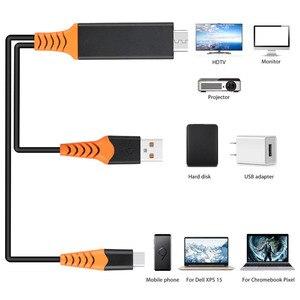 Image 3 - USB סוג C כבל HDMI HDTV AV וידאו מתאם עבור Macbook LG G5 Samsung Galaxy S10 + S10e S9 + s8 + Note9 הערה 8 אנדרואיד טלפון לטלוויזיה