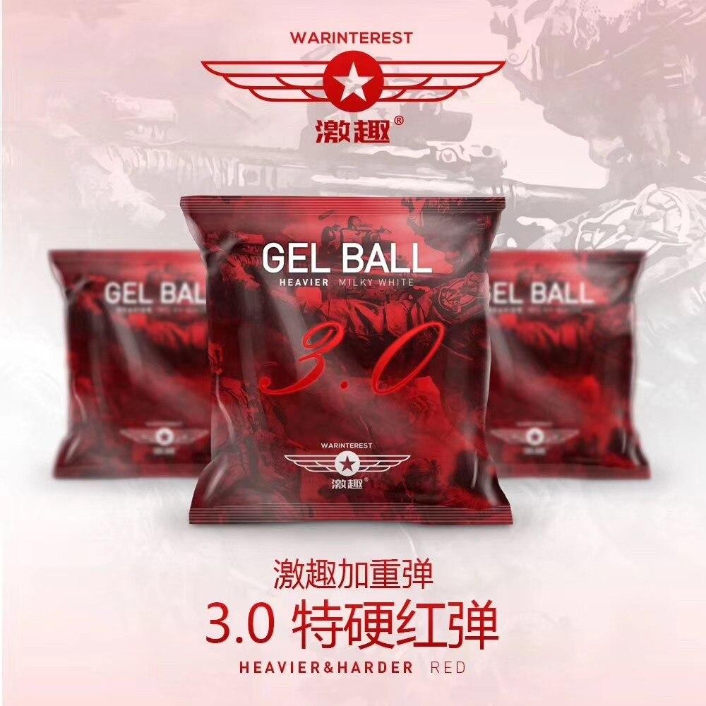 WARINTEREST LDT 3.0 RED HARDENED GEL BALL FOR GEL BLASTERS TOY GUN ACCESSORIES