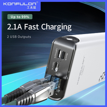 Dual USB Portable Powerbank External Battery 20000mAh Power Bank Mobile External Batteries 20000 mah Bank Power A7 cheap Konfulon Li-polymer Battery Support Quick Charging Double USB for Tablet for Camera for Smartphone Micro Usb USB Type C