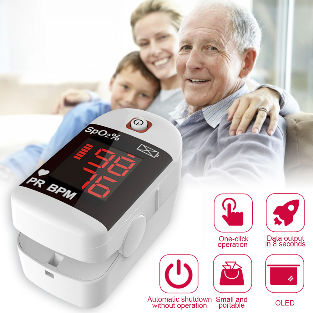 New!! Finger Pulse Oximeter With Case Fingertip Oximetro De Pulso De Dedo LED Pulse Oximeters Saturator Heart Rate Detection