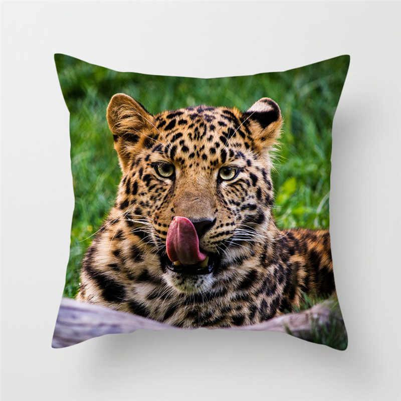 Animal Cheetah Leopard Decorative Cushion Cover Polyester Pillow Cover Cushion Pillowcase For Home Sofa Decor Fundas De Cojin Cushion Cover Aliexpress
