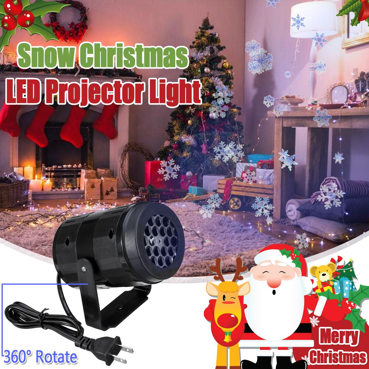 Christmas Snowflake LED Projector Lights Outdoor Landscape Decoration Lamp Home Party Decor Night Lamp Laser Show  Lamp