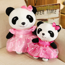 22/30cm Cute Pink Skirt Panda Plush Toy Hobbies Cartoon Anim