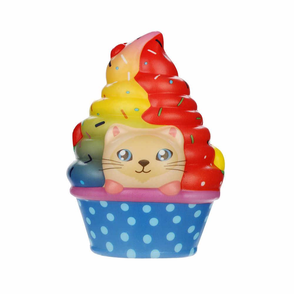 Kawaii Panda Ijs Langzaam Stijgende Stress Relief Speelgoed Cake Shop Model Decoratie Cartoon Stress Speelgoed # B