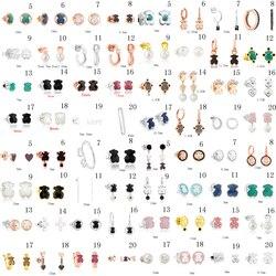 2020 100% 925 prata esterlina urso brincos do parafuso prisioneiro clássico perfurado brincos jóias fabricantes atacado frete grátis