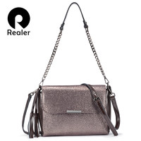 REALER genuine leather crossbody bags for women handbags female shoulder messenger bags small totes high quality top handle bag