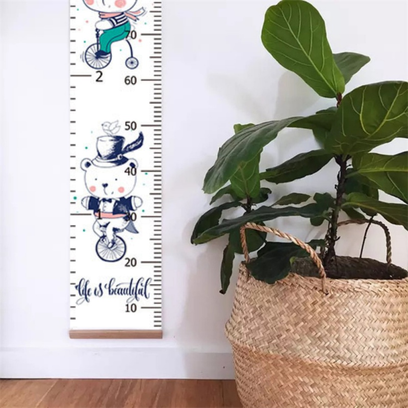 Hanging Height Ruler For Kids Cartoon Decorative Growth Chart Wall Measurement Ruler Children Height Record For Baby Decor