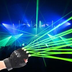 Boże narodzenie czerwone rękawice z zielonym laserem scena taneczna rękawice laserowe światło dłoni dla klubu DJ/Party/bary występ na scenie osobiste rekwizyty w Błyszczące oświetlenie od Lampy i oświetlenie na