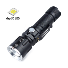 XHP50 High Power LED Flashlight with Clip Design Zoomable Torch USB Rechargeable for Hunting Camping Outdoor Activities