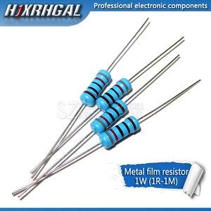 10pcs 1W Metal film resistor 1% 1R ~ 1M 2R 10R 22R 47R 100R 330R 1K 4.7K 10K 22K 47K 100K 330K 470K 1 2 10 22 47 100 330 ohm