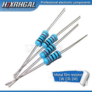 10pcs 1W Metal film resistor 1% 1R ~ 1M 2R 10R 22R 47R 100R 330R 1K 4.7K 10K 22K 47K 100K 330K 470K 1 2 10 22 47 100 330 ohm(China)