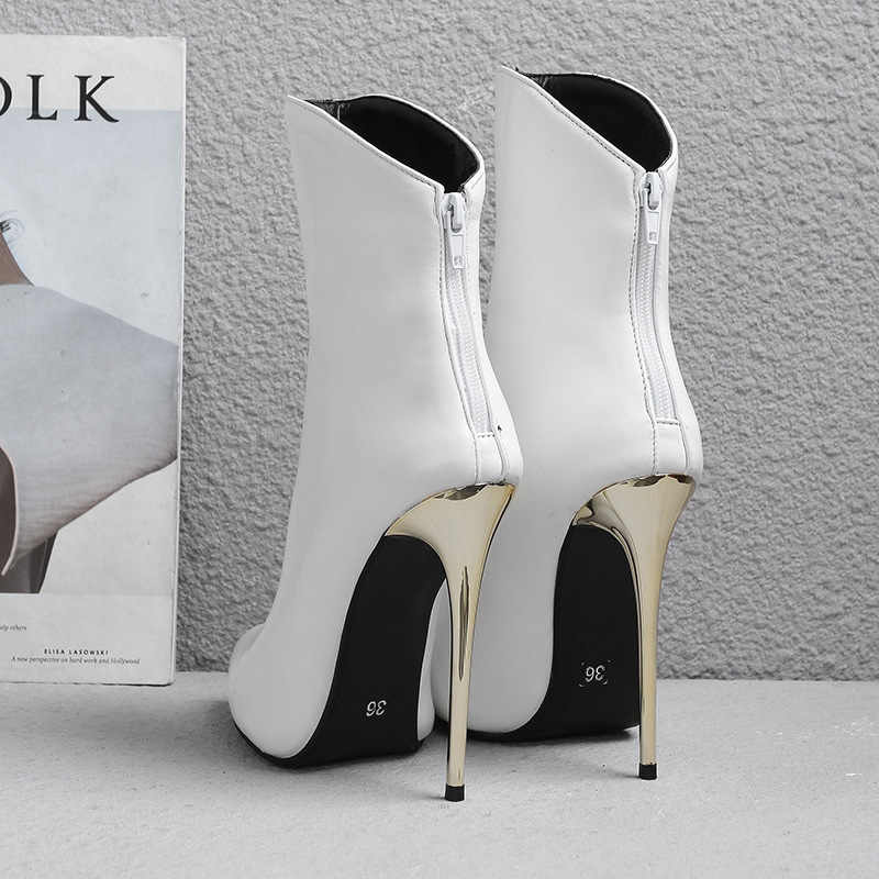 Avrupa ve amerikan kadın sivri seksi stiletto çizmeler. Moda ince vahşi büyük boy bayan botları. Özelleştirilebilir 34-43